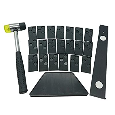 Laminate Wood Flooring Installation Kit with 20 spacers,Tapping Block, Pull Bar and Mallet#01-011