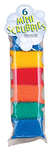 (Clipper Mill Non-Scratch Scouring Pads and Dish Scrubber Sponges, Mini, Set of 6, Colors )