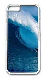 MOKSHOP Awesome Nature Surfer Hard Case Protective Shell Cell Phone Cover For Apple Iphone 6 (4.7 Inch) - PC Transparent