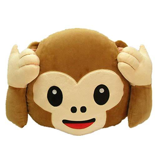 Rainbow Fox Long Nose Elephant Toys Soft Plush Stuff Dolls Lumbar Toys (Monkey no Listen, 35cm) -