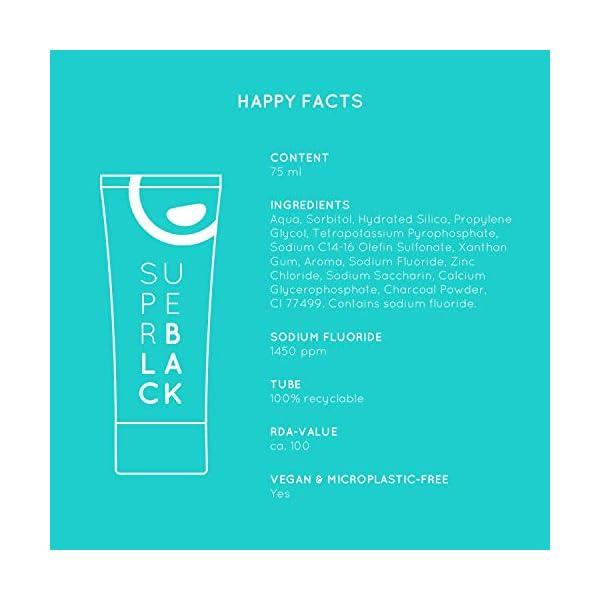 happybrush dentifrice blancheur naturel des dents   sans plastique et végétalien   charbon actif, blanchiment…