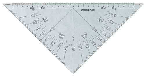 - Weems & Plath Marine Navigation Protractor Triangle with Black Markings