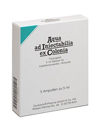 Aqua AD INIECTABILIA EX Colonia ampollas 5X5 ml