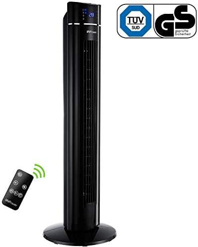 Ventilador Para Suelo MVPower Ventilador de Torre Oscilante de 60 ° con Temporizador 8h