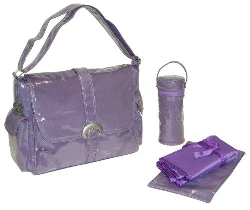 Kalencom Laminated Buckle Bag, Purple Corduroy