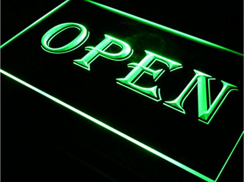 Neonify Open Bar Sign Plug In Night Light Up Box Letter Illuminated Neon Hanging Door Window Acrylic Banner 12