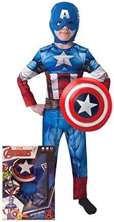 Rubie's Captain America Classic Costume for Boys, Multi Color