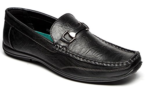 Brixton Men's Synthetic Leather Loafers Shoes 12 Black