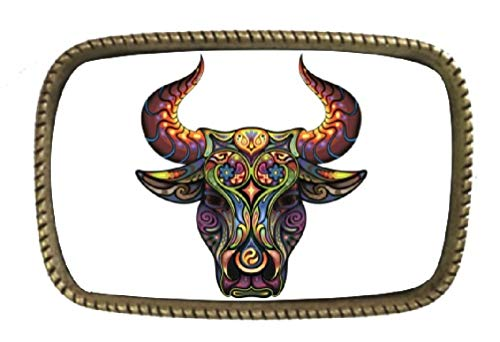 color Art Brass Belt Buckle Made In USA ()