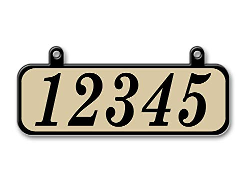 (Hanging Mailbox Address Sign, Double Sided, Highly Reflective (Tan) )
