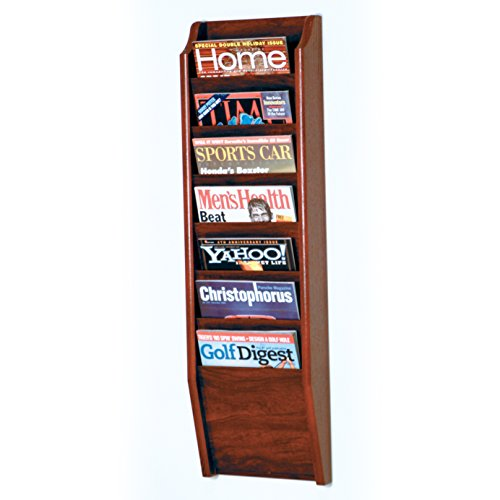 Wooden Mallet 7-Pocket Cascade Magazine Rack, -