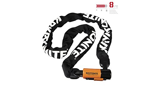 Kryptonite Evolution Series-4 1016 Integrated Chain Bicycle Lock Bike Lock, 5.25'(160cm) chain length