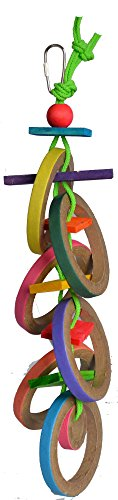 Super Bird Creations 18 by 4-Inch Olympic Rings Bird Toy, La