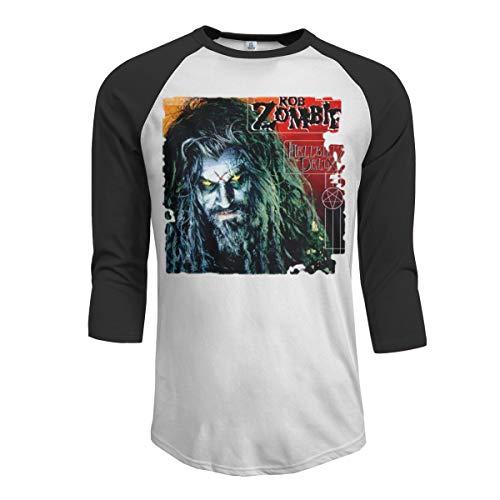 MarshallD Men's Rob Zombie 3/4 Sleeve Raglan Baseball T Shirt Black XL -