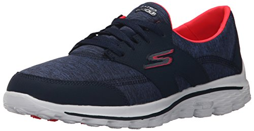 Skechers Performance Women's Go Walk 2  Backswing Golf Shoe,Navy/Pink,8 M US