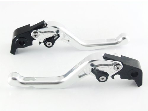 Price comparison product image Strada 7 Racing Short Adjustable Levers Pair Silver For Yamaha MT-09 / SR / FZ9