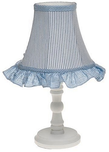 Amazon lil star blue gingham lamp base with shade baby lil star blue gingham lamp base with shade aloadofball Image collections