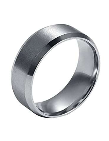 FANSING 8mm Silver Stainless Steel Wedding Bands Rings for Womens & Mens Size 11 (Rings Cheap Silver)