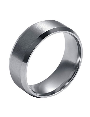 FANSING Mens Wedding Rings Womens, 8mm Wedding Bands, Stainless Steel, Tungsten Ring, Size 5-15
