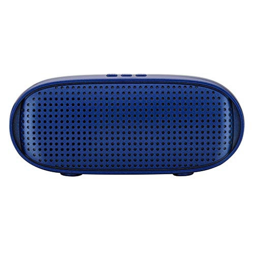 ❤️MChoice❤️HiFi Portable Wireless Bluetooth Speaker Stereo Sound Bar TF Subwoofer Column Speakers for Computer Phones (Blue)