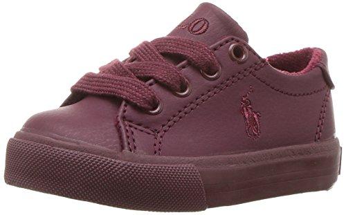 Image of POLO RALPH LAUREN Kids Baby Slater Sneaker, Triple Burgundy Tumbled, 5 Medium US Toddler