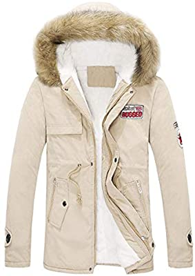 d0a179c71fc Amazon.com  Mens Womens Coat Plus Size Collar Couple Cotton Pocket Long  Hooded Jacket Outwear  Appliances