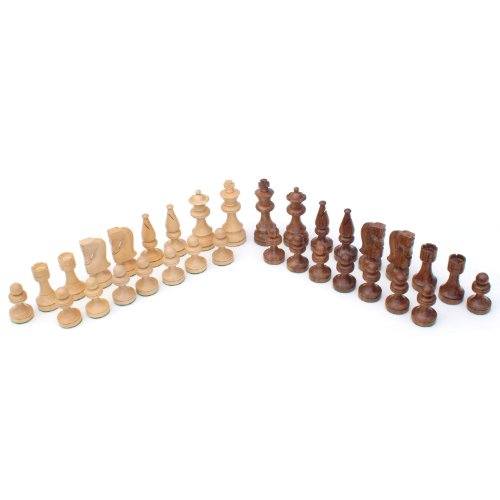 WE Games Russian Chessmen - Weighted & Handpolished Wood with 3.5 in. King by Wood Expressions