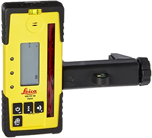 Leica RE 160 Digital Rugby Rod Eye 160 Digital Rotary Laser Receiver, Yellow