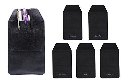 6 Pcs Black Vinyl Pocket Protector, for Pen Leaks,for School Hospital Office (Protector Pocket Vinyl)