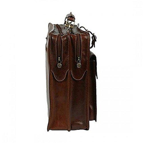 Chiarugi Spitzenreiß italienischen Medium Leder Aktentasche - brown