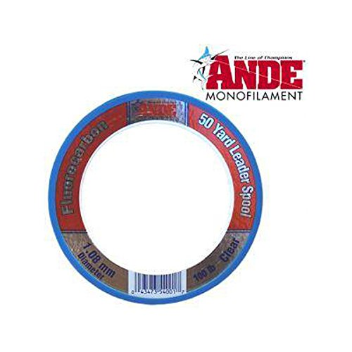 ANDE FCW50-12 Fluorocarbon Leader Material, 50-Yard Spool, 12-Pound Test, Clear Finish
