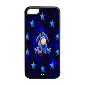 Mystic Zone Cartoon Winnie the Pooh iPhone 5C Back Cover Case for Apple iPhone 5C -(Black and White) -MZ5C00330