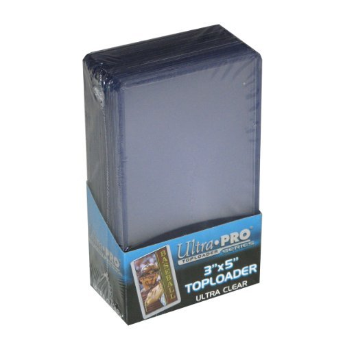 25 - Ultra Pro 3 X 4 Top Loader Card Holder for Baseball,Football, Basketball, Hockey, Golf, Single Sports Cards Top Loads - Sportcards Card Collecting Supplies
