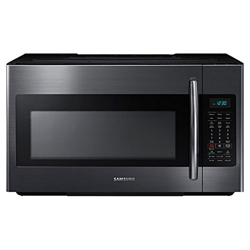 Samsung ME18H704SFG 1.8 Cu. Ft. Black Stainless Steel Over-the-Range Microwave by Samsung