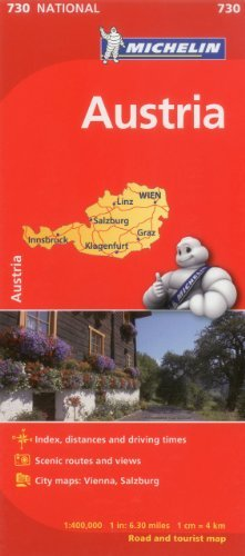 Michelin Austria Map 730 (Maps/Country (Michelin)) by Michelin Travel & Lifestyle (2012-03-16)