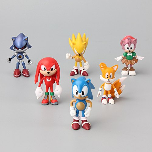 Sonic the Hedgehog 6 - 7cm PVC 6pcs Action Figures Doll Anime Collection Model Toy