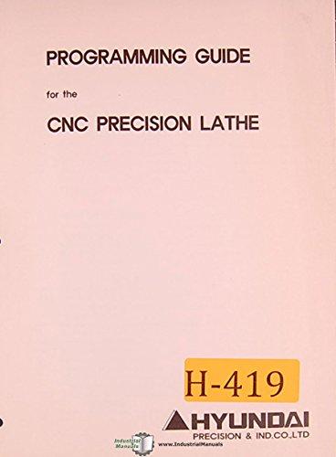 (Hyundai Hi Trol EZ, CNC Lathe Programming Manual)