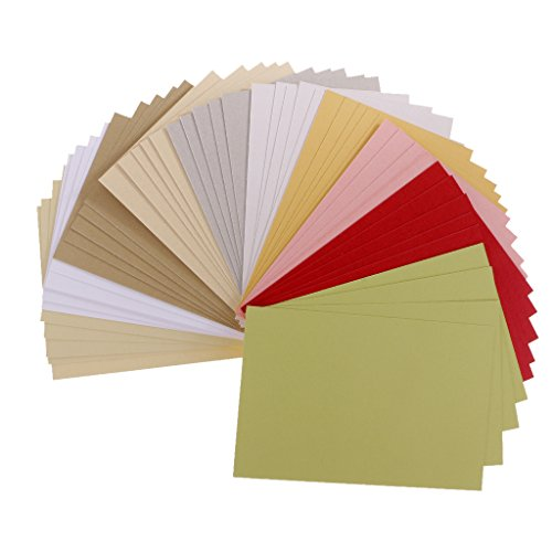 Jili Online 50 Sheets/Pack Scrapbooking Pearlescent Paper Cardstock DIY Handmade Card for Crafts