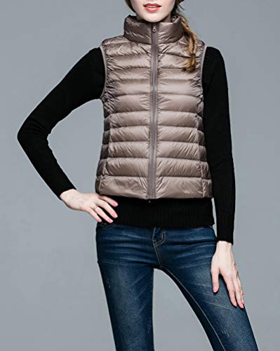 Vest Suncaya Ultra Light Gilet Jacket Camel Coat Women's Weight Down Packable Puffer qrw1XAI7r