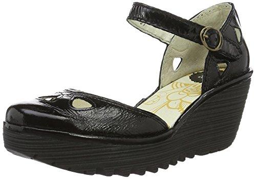 FLYA4|#Fly London Yuna, Zapatos De Tacón Para Mujer Negro (Black 130)