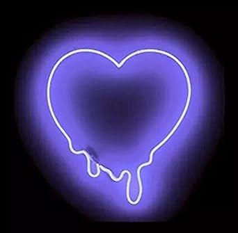purple heart tears neon art sign 17 14 inch real glass neon signs