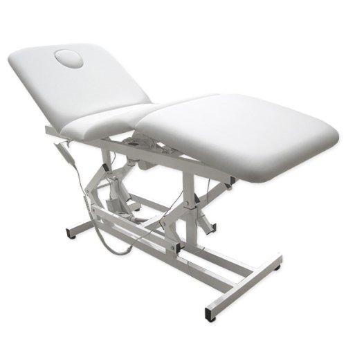 11932 Elektrische Behandlungsliege Therapieliege Massageliege Ruheraumliege in weiß