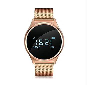 Fitness Tracker, contador de calorías, llamada SMS WhatsApp reloj inteligente, reloj deportivo con