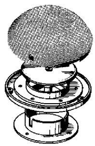 Beckson Ventilator with Plastic Cover