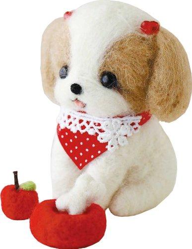"Hamanaka Felt wool mascot wool felt kit ""Shih Tzu-chan"" Designed by Tsurutani Kaori (japan import)"