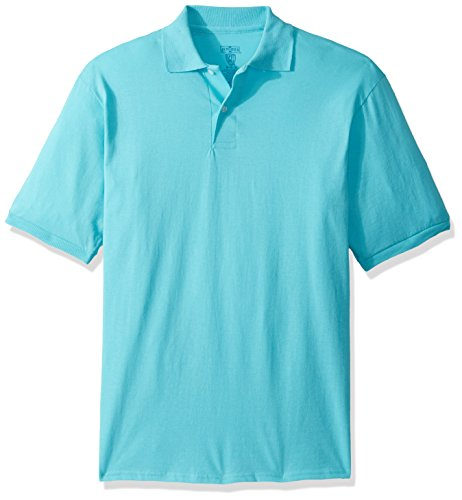 Jerzees Men's Spot Shield Short Sleeve Polo Sport Shirt, Scuba Blue, ()