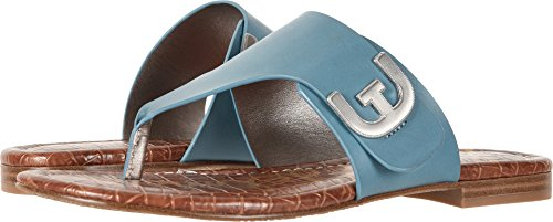 Sam Edelman Women's Barry Denim Blue Vaquero Saddle Leather 9.5 W US