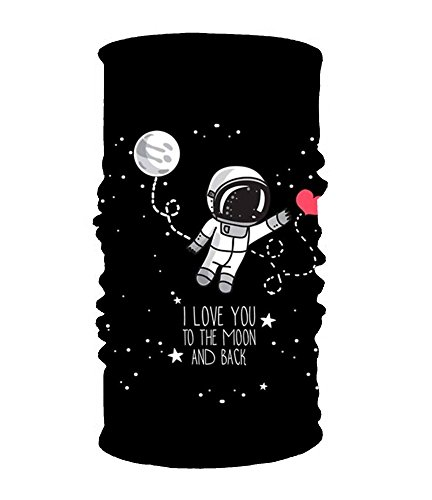 I Love You In The Moon 16-in-1 Magic Scarf,Face Mask,Thin Ski Mask,Balaclava Bandana by YIYIDongren