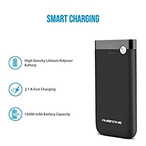 Ambrane PP-150 15000 mAh Lithium Polymer Power Bank (Black)