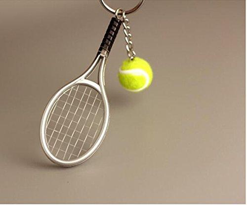 Balle de Tennis Porte-clefs pour Les Amateurs de Sport NaiCasy Mini Raquette de Tennis avec Porte-cl/é en Alliage cr/éatif Porte-cl/é moul/ée
